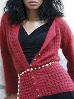 Raspberry Fizz Lace Cardigan